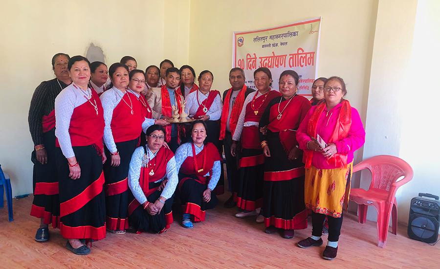 महिला उद्घोषण तथा वक्तृत्व विकास तालिम सम्पन्न