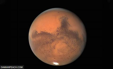 आज मंगल ग्रह पृथ्वी र सूर्यको सिधा रेखामा